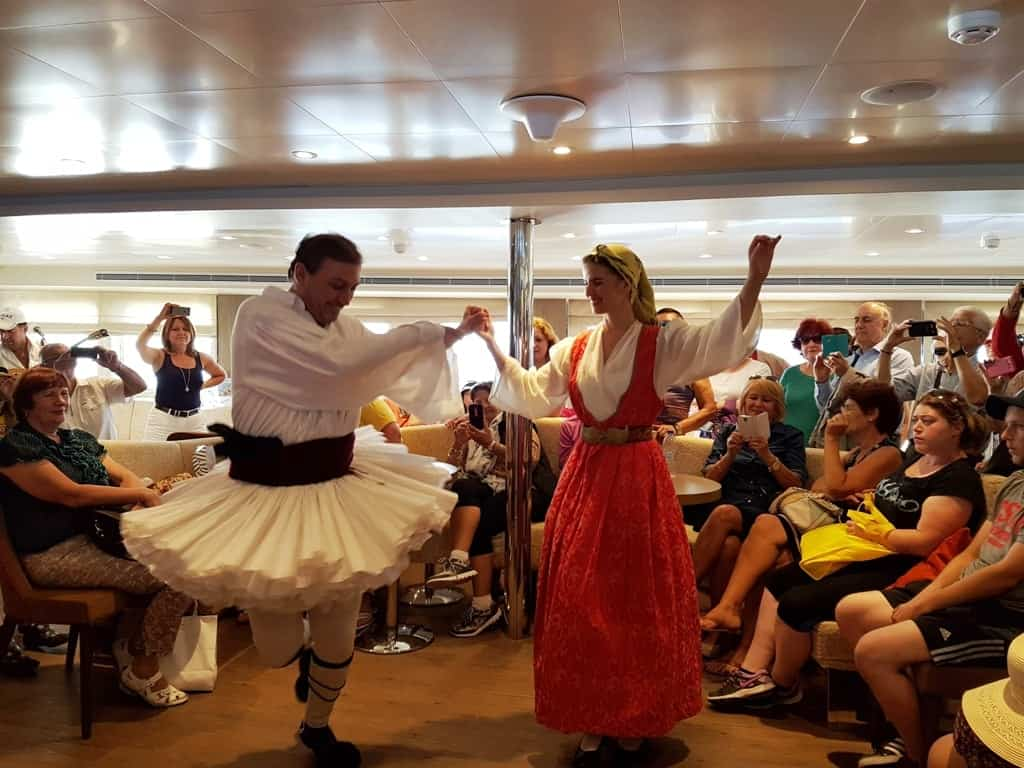 entertainment on board on your one day cruise from Athens
