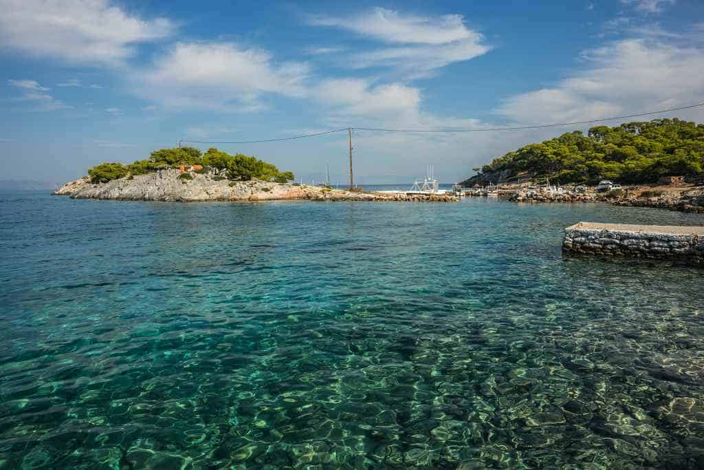 Agistri island is great for a day trip from Athens