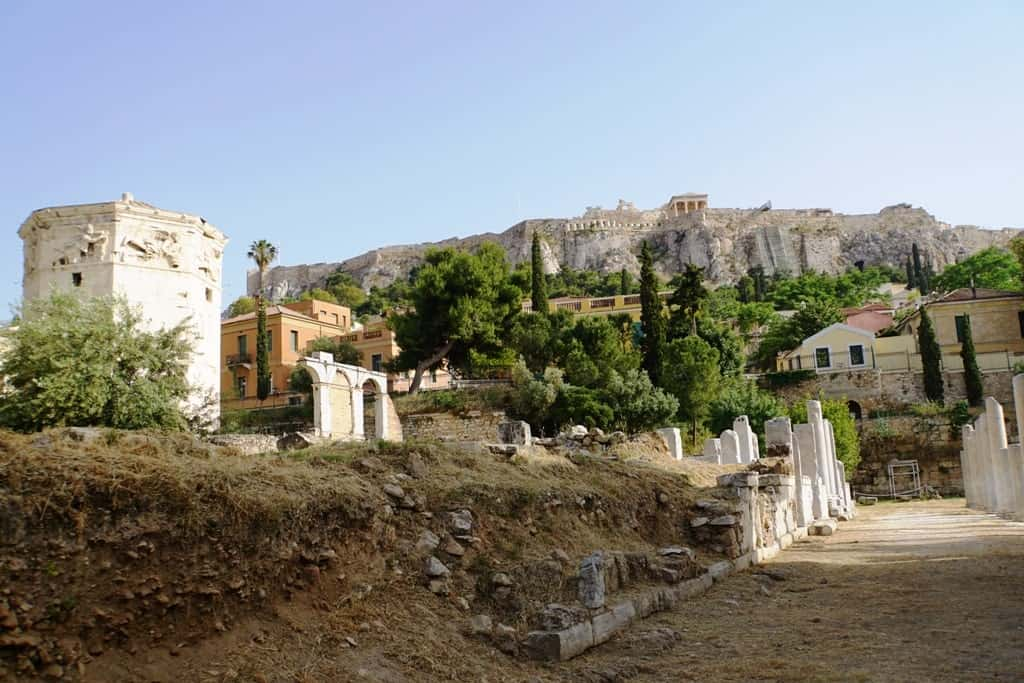 The Acropolis as seen from the Roman Agora