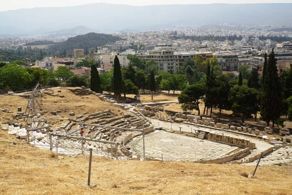 The theatre of Dionysus is part of the combo ticket