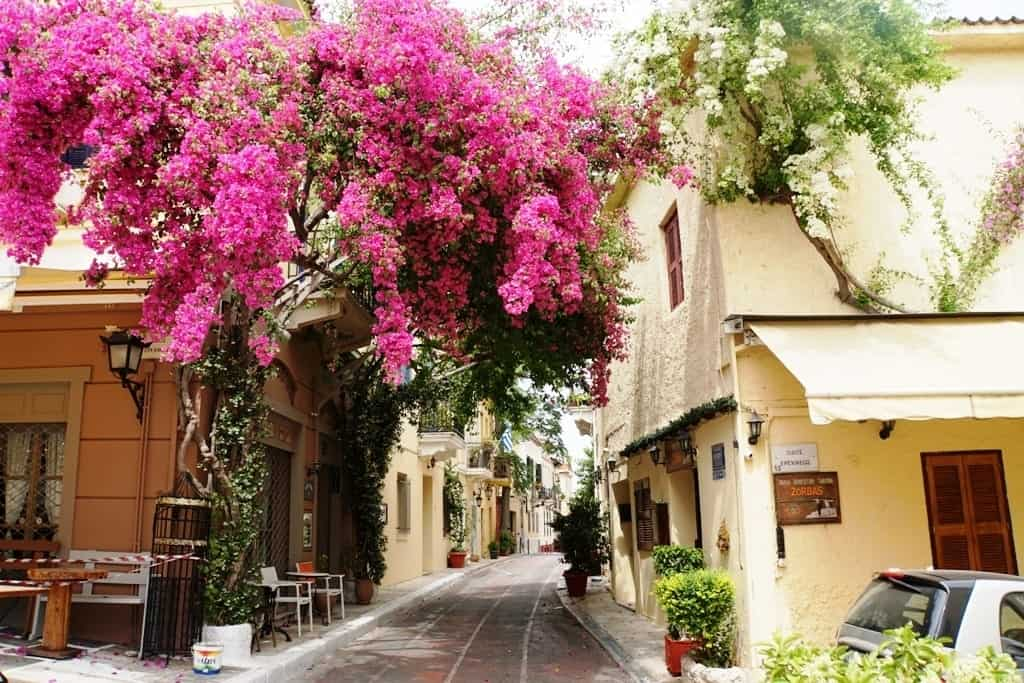 Plaka neighborhood is a great place to stay while in Athens
