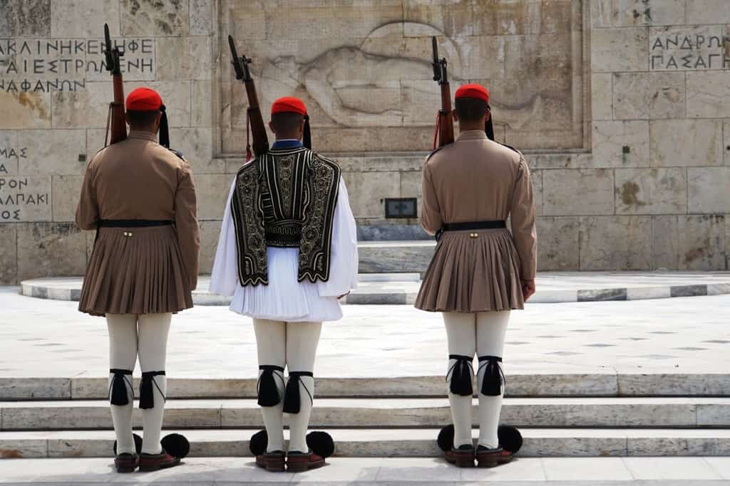 The Changing of the guards in Syntagma Square