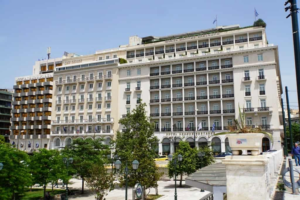 Grande  Bretagne, King George, and Athens Plaza hotels on Syntagma