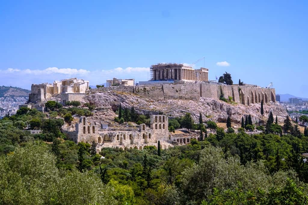 View of the Acropolis from Filopappos Hill
