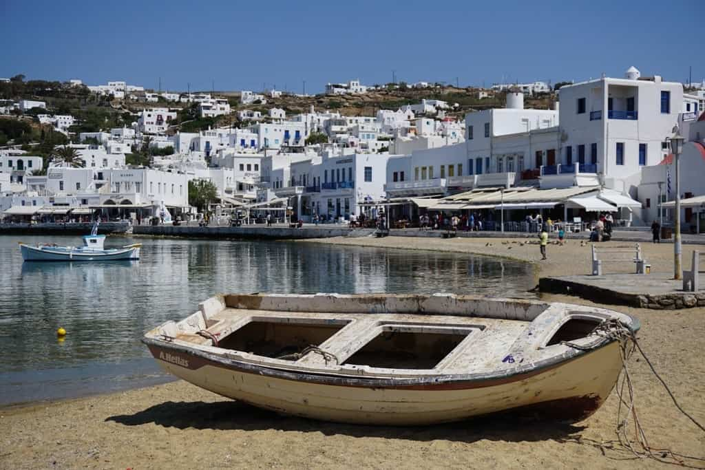 Mykonos old port - a day trip from Athens to Mykonos