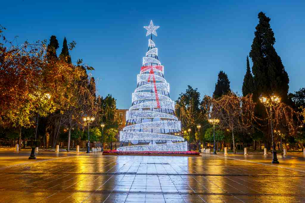 Christmas tree - Athens in winter