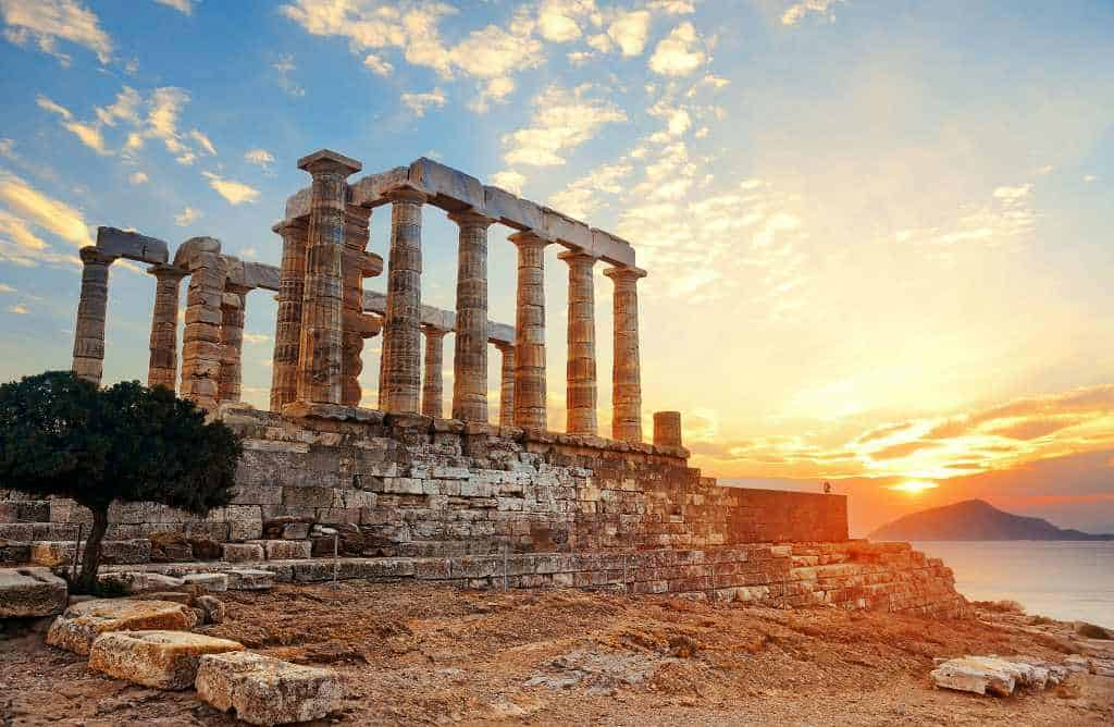 Sunset Temple of Poseidon