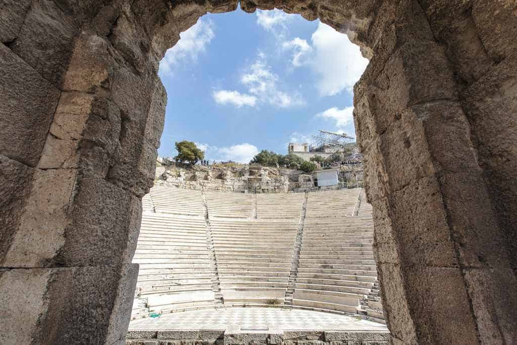 theentrance to the theatre of Herodes Atticus