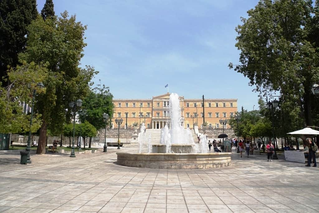 Syntagma Square and Parliament Building in Athens