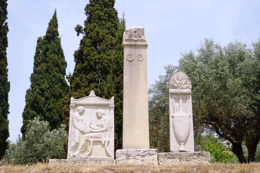 Tombs at the Kerameikos Cemetery