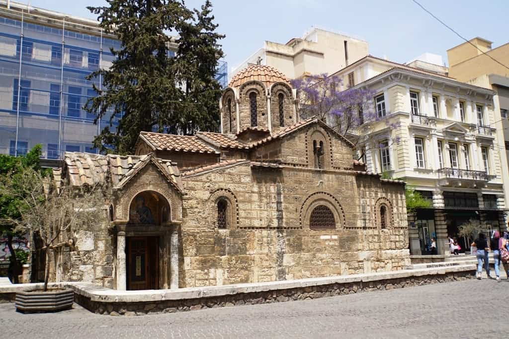 Kapnikarea Church in Ermou street in Athens