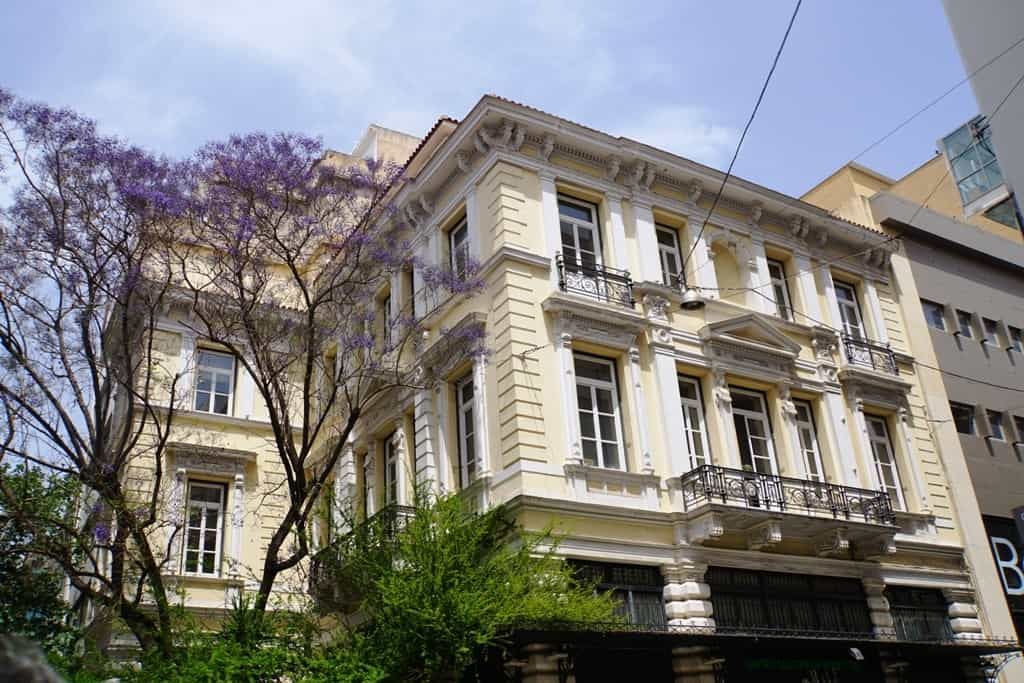 neoclassical buildings on Ermou Street