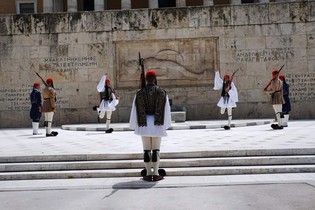 the change of the guards in Athens - Evzones