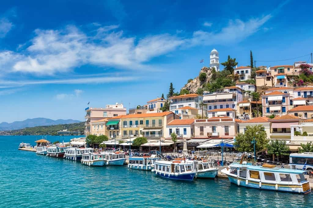 Poros is an island close to Athens