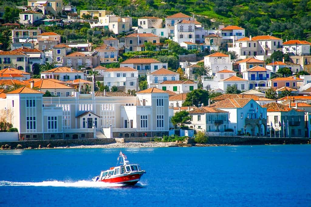 beautiful Spetses island close to Athens