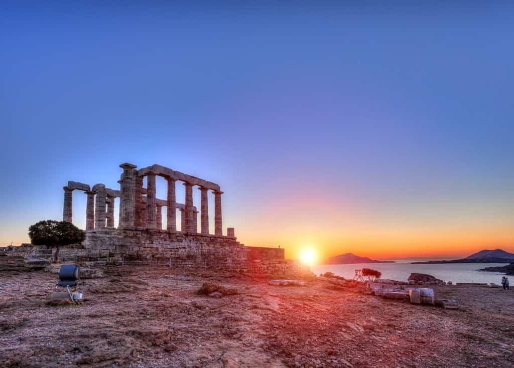 Sunset In Sounio