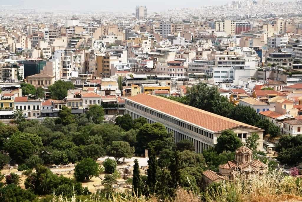 View of Ancient Agora from Areopagus Hill