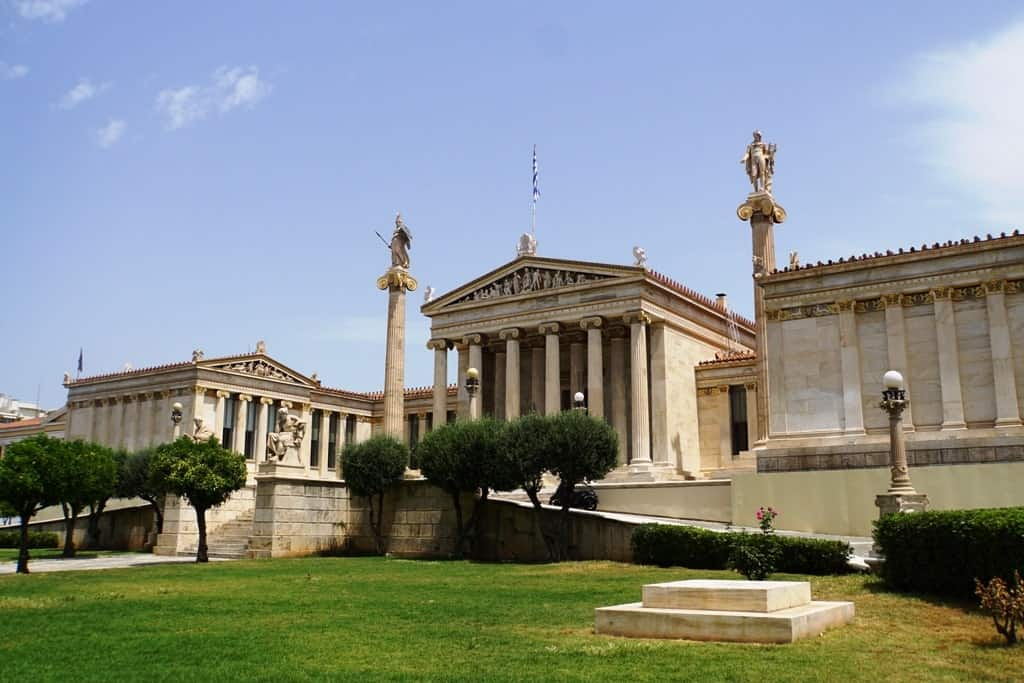 Famous buildings in Athens