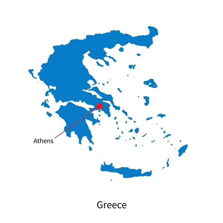 where is Athens map