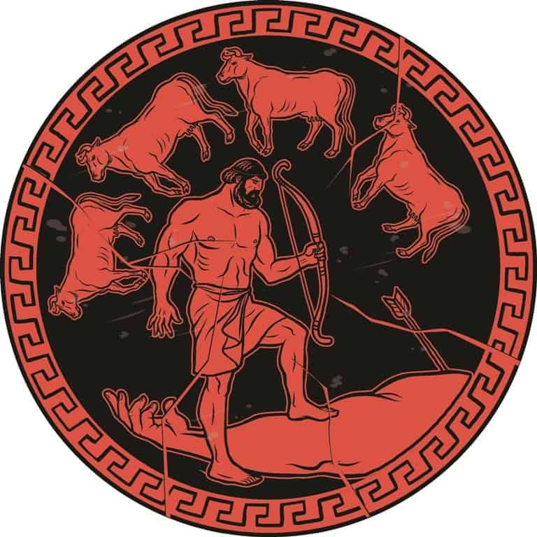 Obtain the cattle of the monster Geryon. 12 Labours of Hercules